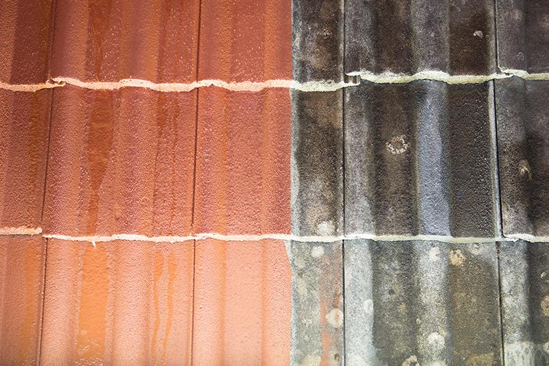 Avant-Après, nettoyage de toiture Brem-sur-mer